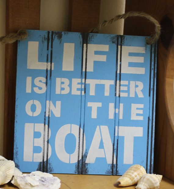 Simply put—Life is better on the boat. #nautical #decor