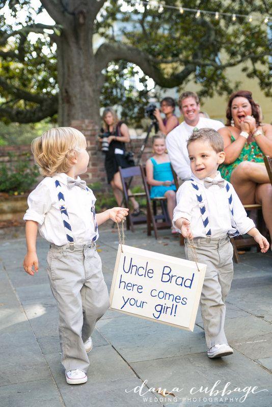 William Aiken House Wedding // Charleston SC Ring Bearer Sign Photo By Dana Cubbage Weddings www.danacubbageweddings.com
