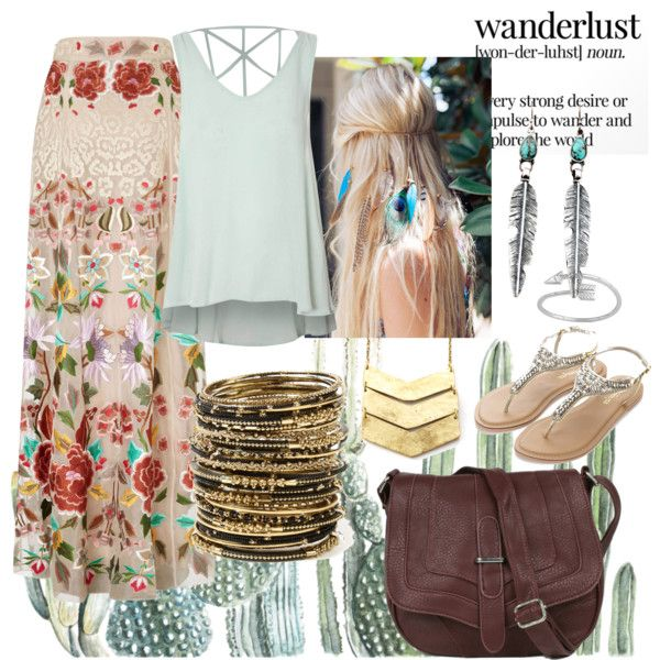 'Wanderlust' Boho inspired outfit feat. Beautiful Wanderer Bag (http://www.jijikiki.com/products/beautiful-wanderer-cross-body-bag) #boho #hippie #bohemian #freespirit #travelling