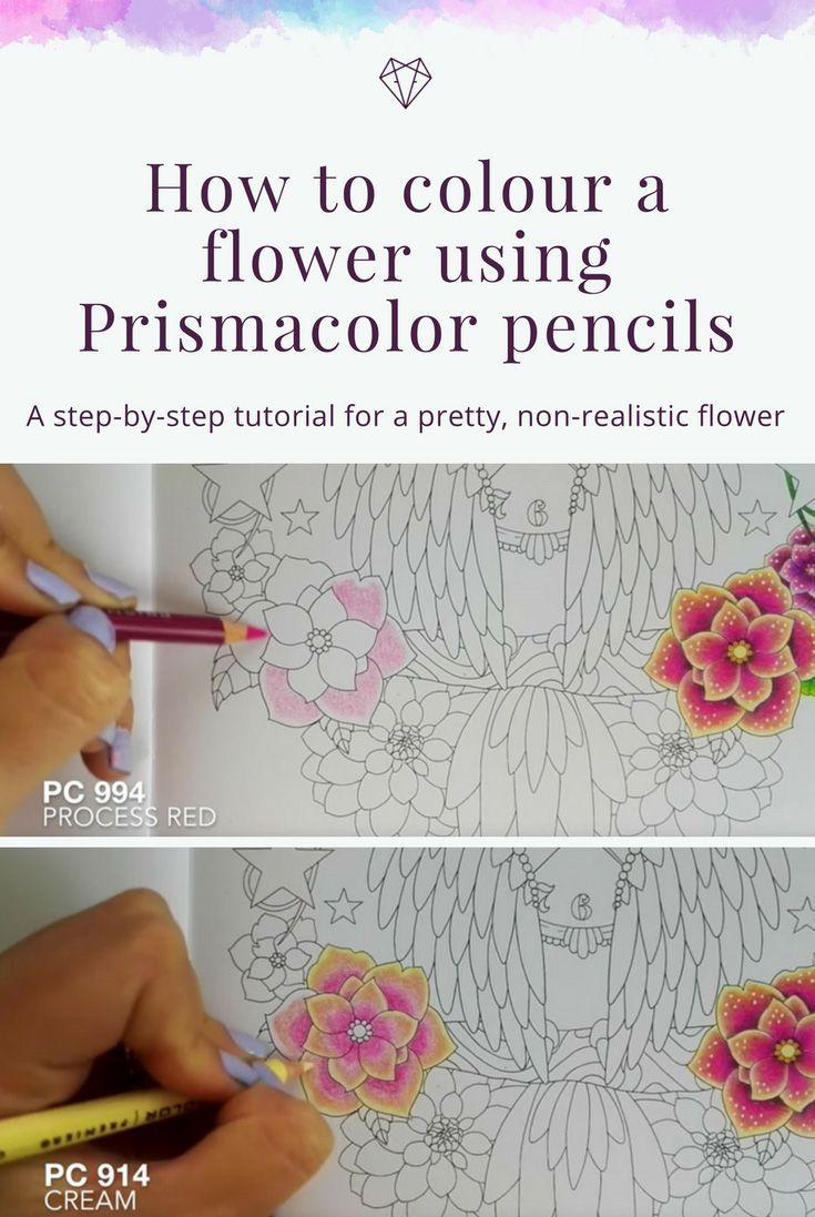 Tutorial How To Colour A Flower Using Prismacolor Pencils Fox