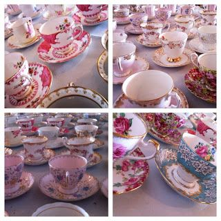 fancy vintage china wedding