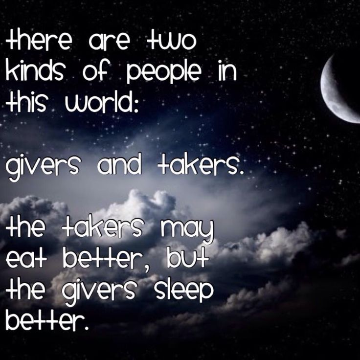 Givers & takers...