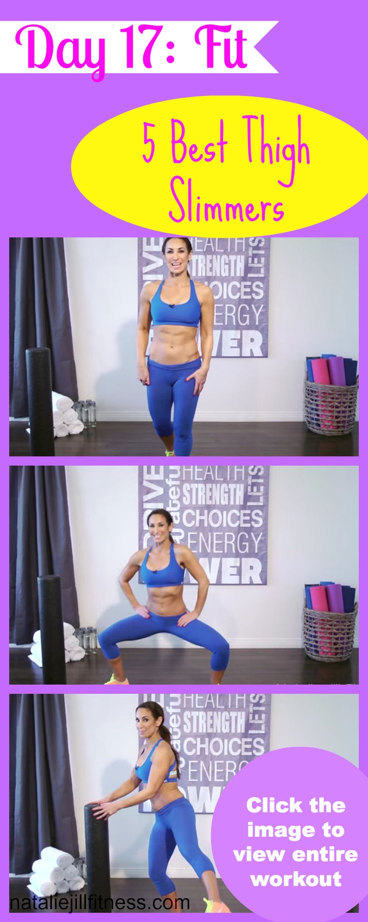 OMG you guys! Get ready for some THIGH SLIMMING craziness! These exercises are going to WORK those inner thighs! WHO is in and WHO is still with me on this challenge? How are you feeling? Click through to do the workout!