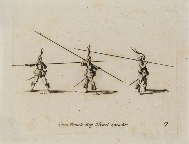 Jacques Callot, designer French, 1592-1635 Israël Henriet, publisher French, 1590-1661 L'Exercice de la Lance Horizontale (Exercise of the Horizontal Lance), Les Exercices Militaires, 1635 Etching Plate: 6.2 x 8.3 cm (2 7/16 x 3 1/4 inches) Gift of Mrs. Herbert N. Straus 49.039.8