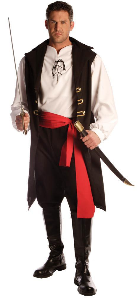 Adult Captain Cutthroat Men's Costume : Captain Cutthroat includes pirate vest with attached shirt front and sleeves, pants and sash. Description from costumecauldron.com. I searched for this on bing.com/images