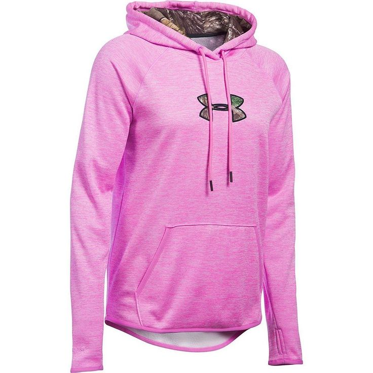 UNDER ARMOUR Women's Storm ColdGear Loose Fitted Hoodie Pink/Camo Sz M $64.99 #UnderArmour #Hoodie