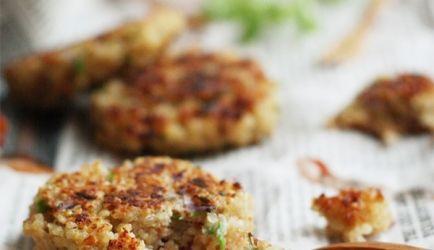 Quinoa Burgers Met Tijm, Knoflook En Parmezaanse Kaas recept | Smulweb.nl