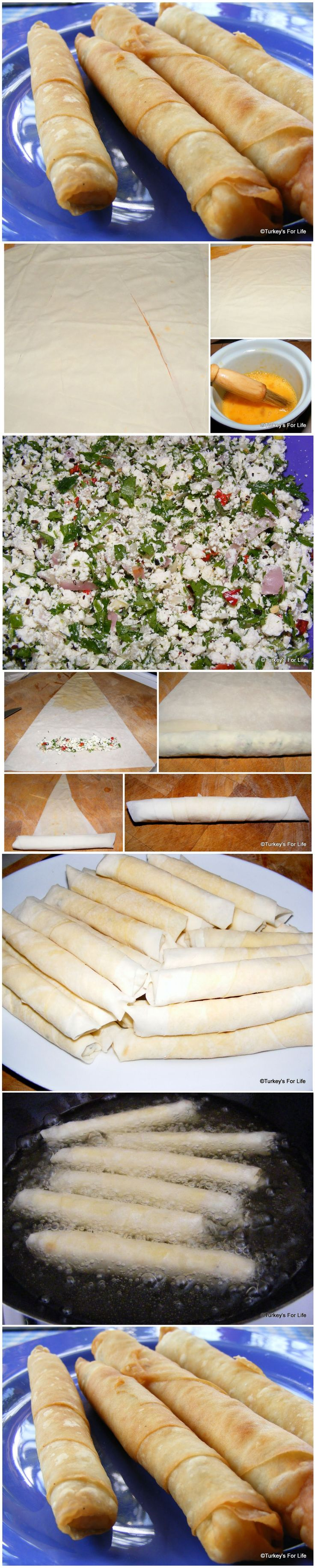 A Turkish Recipe For Sigara Böreği (Cheese Rolls)