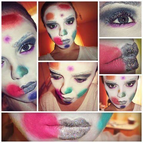 #mask #paint #makeupartist #facepaint #makeup #artistic #art #artisticmakeup #artist #facepainting #colorfulmask #circleface #multicolormask #clown