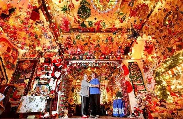 German christmas house decorations