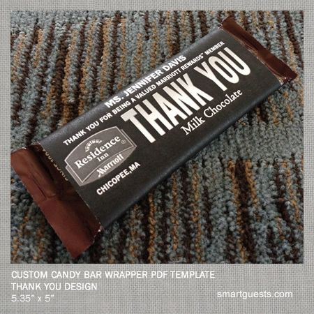 20 best cool hotel ideas marketing images on pinterest for Personalized chocolate wrappers template