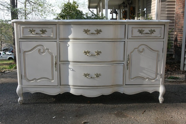 Antique White Buffet Table... A Little Too Foofoo, But