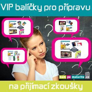 článek VIP balíčky příprava na přijímací zkoušky 2016