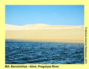 Boat trip on the Preguiças River, from Barreirinhas to Atins (MA).
