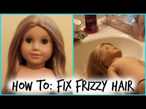 AG Dolls Hair Fix Tutorial Restore, Straighten, Dry, Frizzy, Wavy American Doll Hair with Hot Water - YouTube