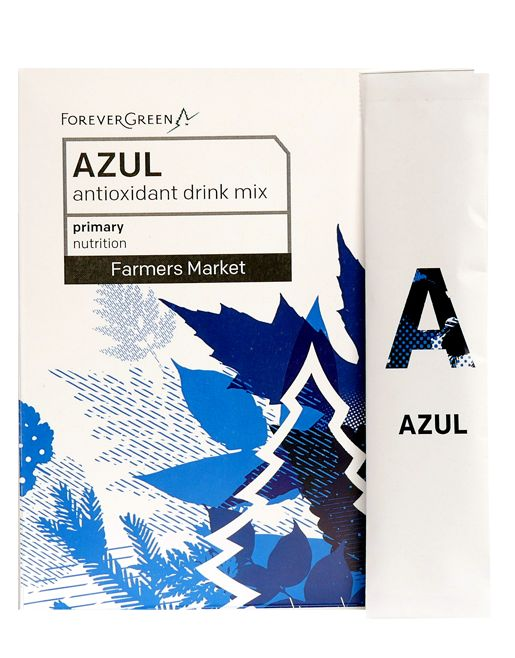 Azul™ features marine phytoplankton in a proprietary base of 24 raw whole foods including maqui berry, acai berry, coconut, goji berry, pomegranate, mangosteen, GAC fruit, and more.