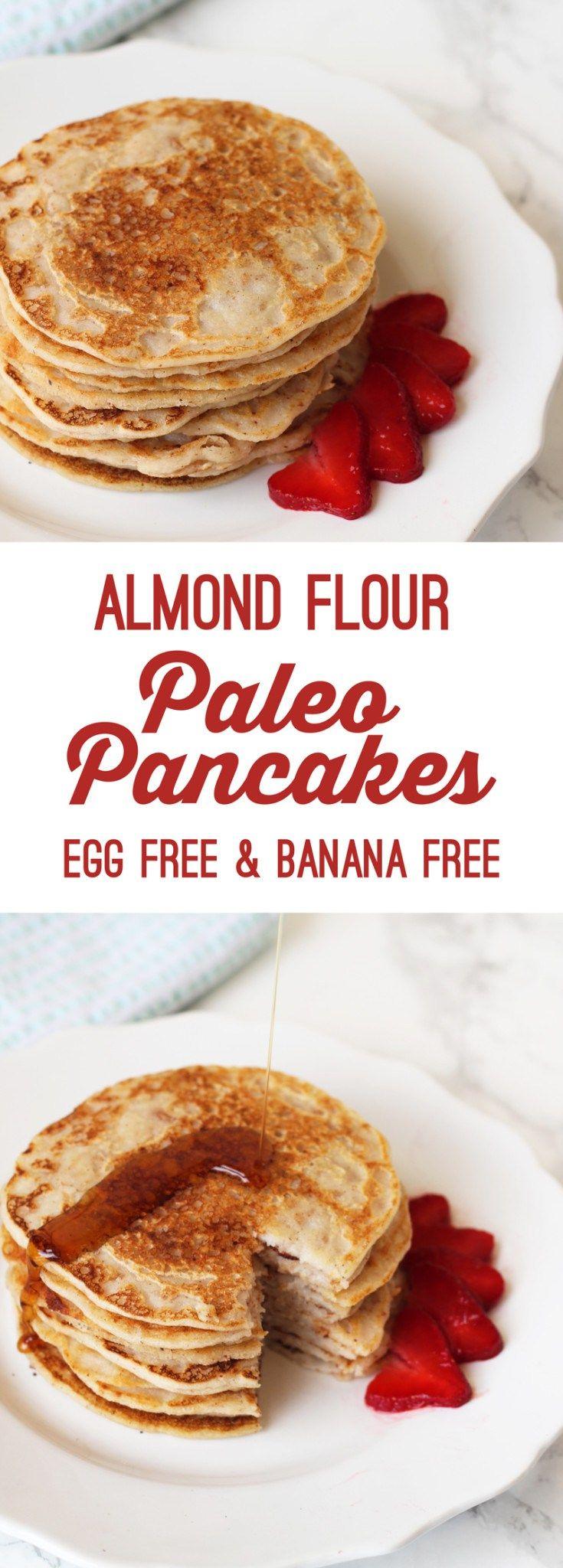 Almond Flour Paleo Pancakes (Egg free and banana free)