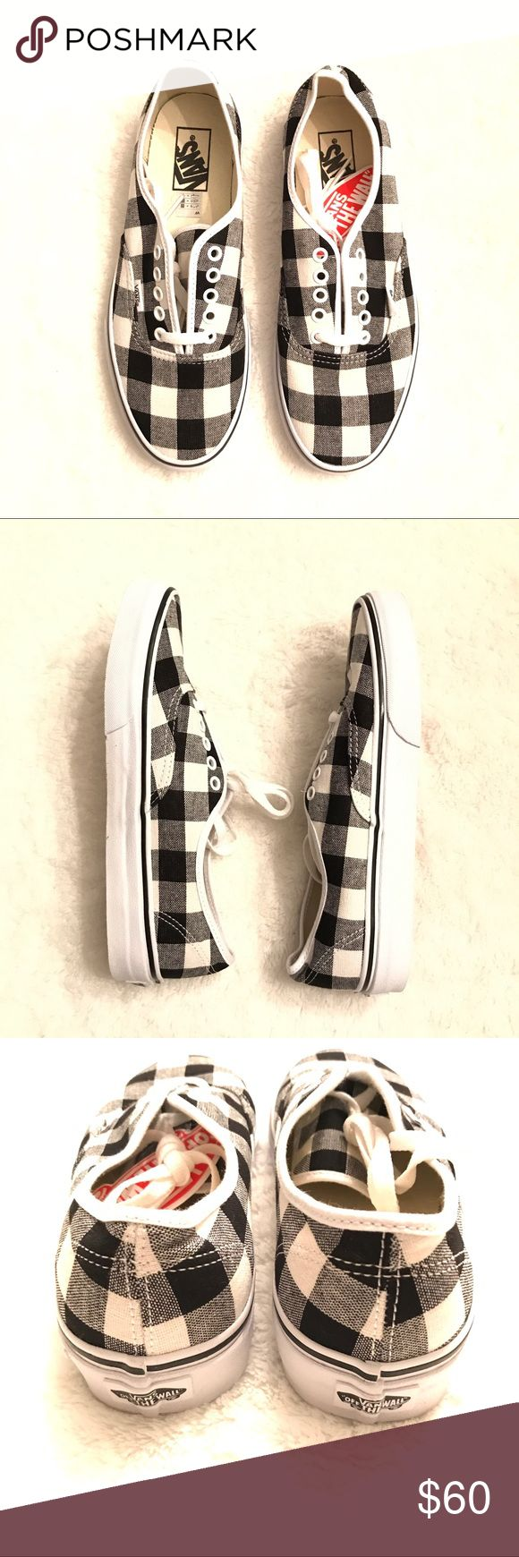 Madewell x Vans Lace-up Sneakers in Gingham **SOLD OUT at Madewell** Madewell x Vans unisex authentic lace-up sneakers in gingham.                                                                               Synonymous with skateboarders, surfers and Southern California, Vans is a true sneaker icon. Add some cool to your casual with these timeless canvas shoes, done up in bold gingham checks just for us. Unisex sizing: US Men 8/US Women 9.5                                         Canvas…