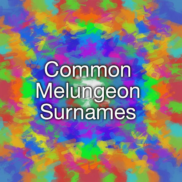 Common Melungeon Surnames