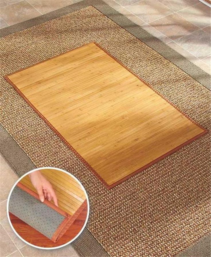 "30"" X 48"" BAMBOO NONSLIP DESK HOME OFFICE FLOOR CHAIR MAT IN DARK OR NATURAL #UNBRANDE3D #CONTEMPORARY"