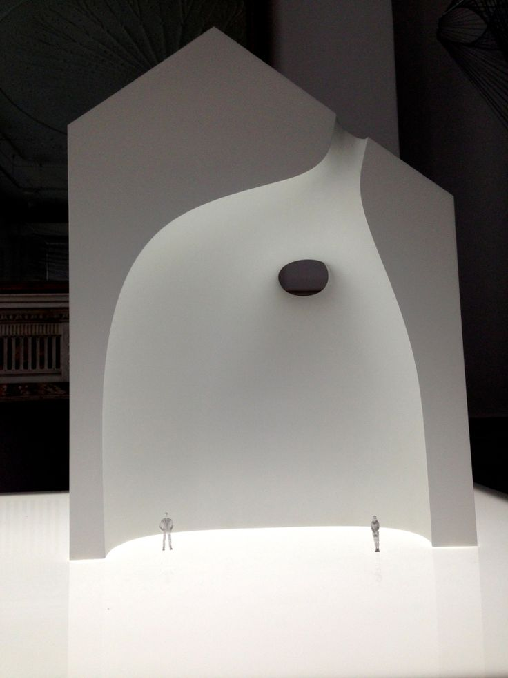 "The Shiro (white) objects are dissected architecture ""through the medium of three architectural models, the relationship between solid and void in architecture""."