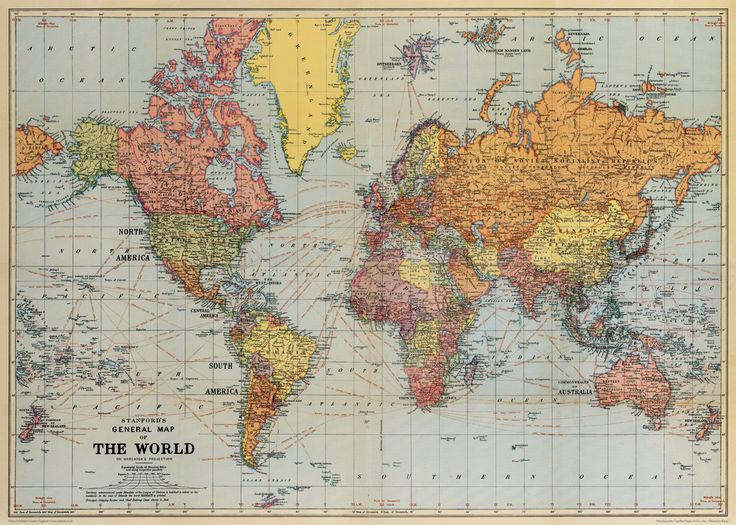 """Cavallini World Map Wrap 20"""" x 28"""" - Printed on Cavallini's signature Italian paper (archival) - Perfect for wrapping, as posters, framing and other creative endeavors - Best selling and most original"""