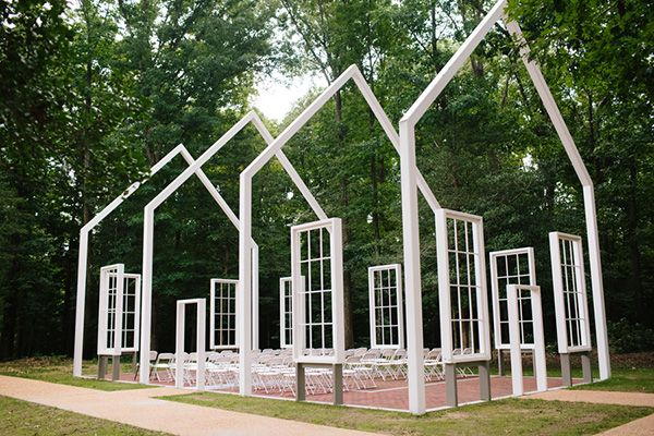 This church without walls provides a truly unique outdoor wedding ceremony experience.