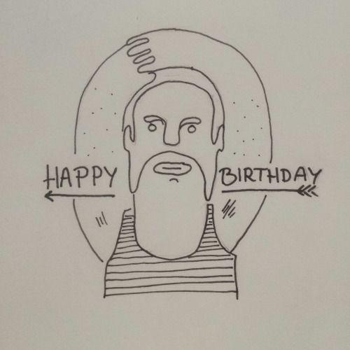Happy birthday illustration for a friend