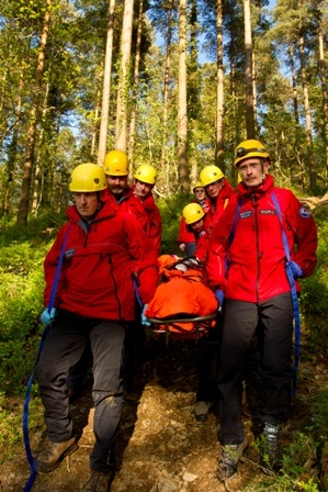 Irish Red Cross, Glen of Imaal Mountain Rescue Team in Wicklow, Ireland.  All volunteers, all heroes    Save and Rescue with the Irish Red Cross