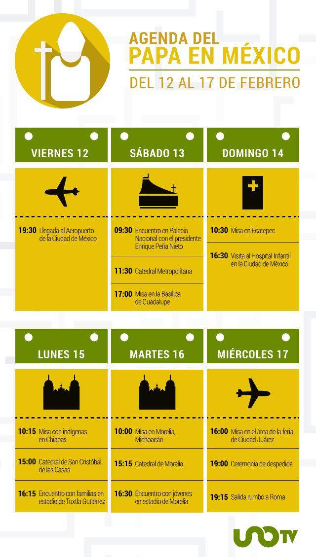 El Papa en México, del 12 al 17 de febrero
