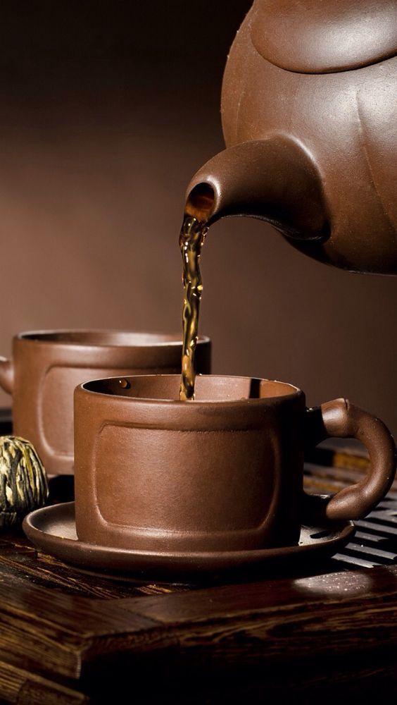 Rich Brown Tea Set