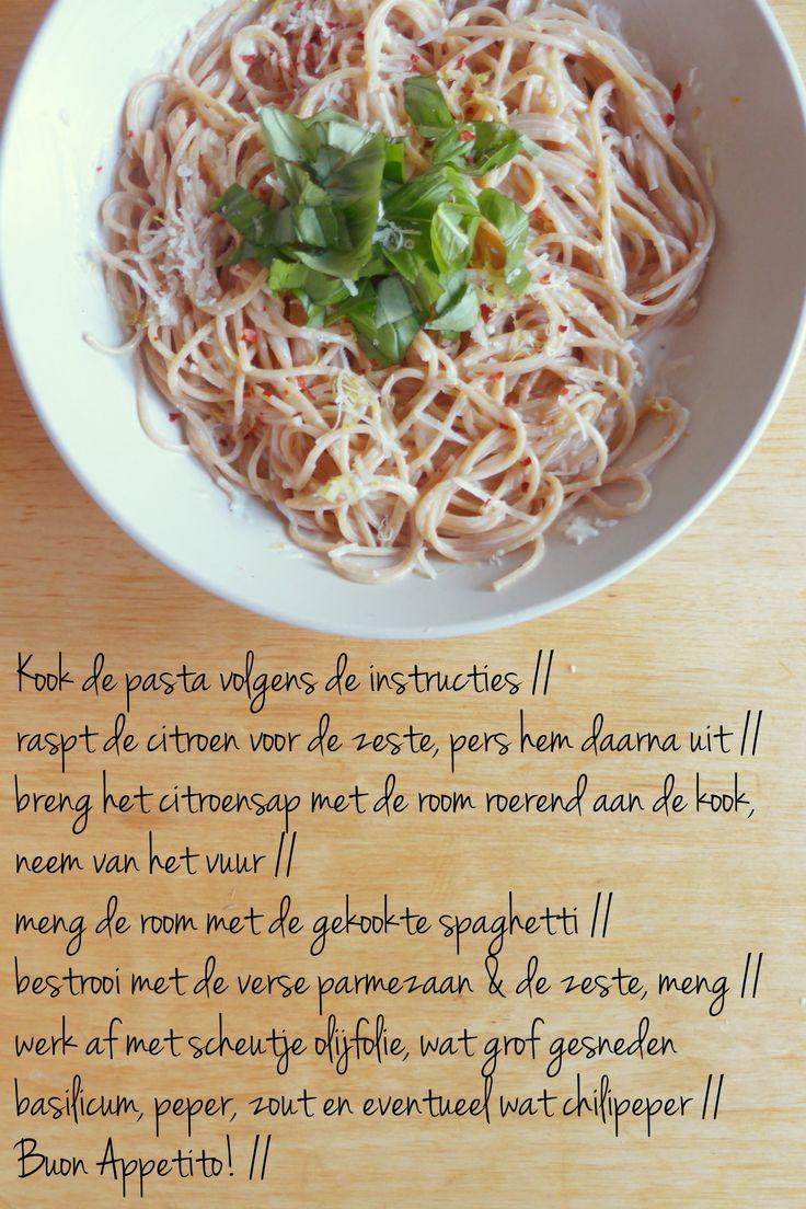 pasta al limone recept pasta spaghetti citroen limoen makkelijk