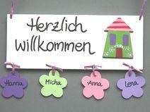 Great T rschilder Namensschilder und Buchstaben aus Holz Deko f r us Kinderzimmer liebevolle Kleinigkeiten