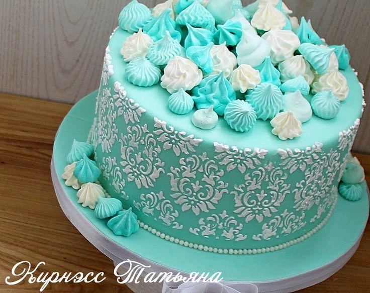 Торт в цветах Тиффани