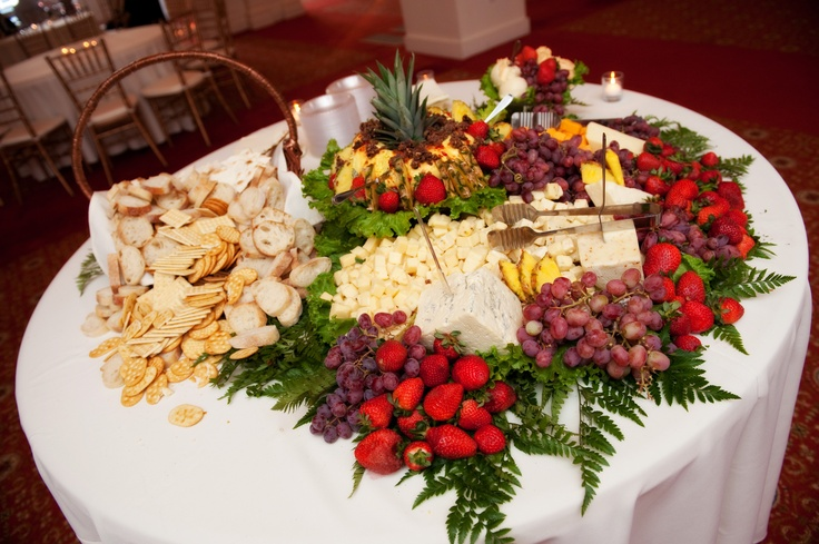 Fruit, Cheese and Cracker Buffet display