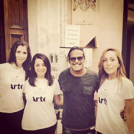 """""""A Gerusalemme!"""" con Marco Baldini! Grazie per la visita! #Assisi #Umbria #mostra"""
