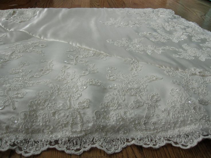 Wedding Dress Quilt. $400.00, via Etsy.