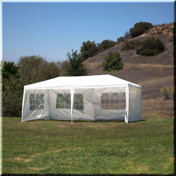 Outdoor Canopy Tent Gazebo Shelter 10x20 White Waterproof Cover Sidewalls US $149.09#OutdoorCanopyTentGazebo
