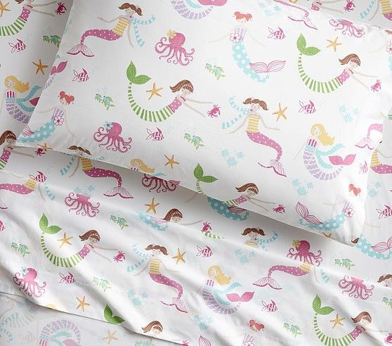 Organic Mermaid Sheet Set Pb Kids 69