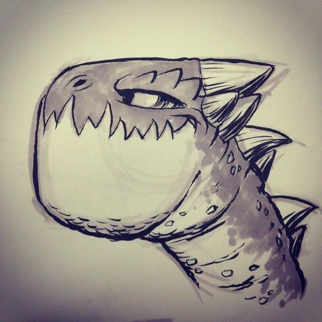 #dragon #monster #breaksketch #brushpen #cartoons