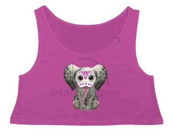 Crop top con elefantina
