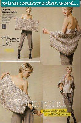 Busca un punto fantasía que te guste y hace este bolero…es un simple rectangulo | Mi Rincon de Crochet