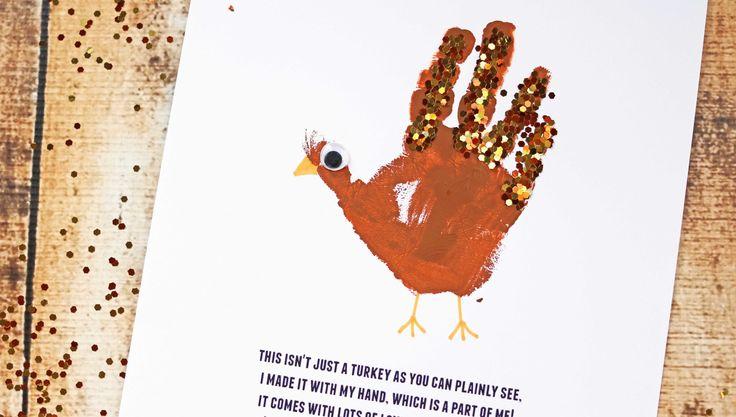 Handprint Turkey Poem – Free Printable