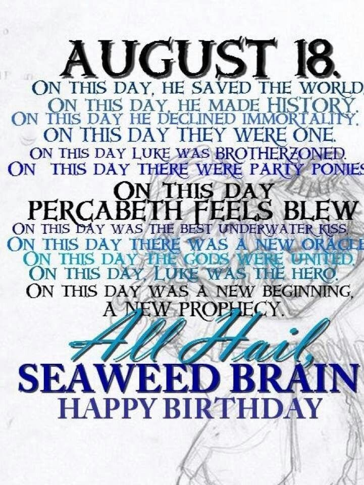 when is percy jackson's birthday - Google Search