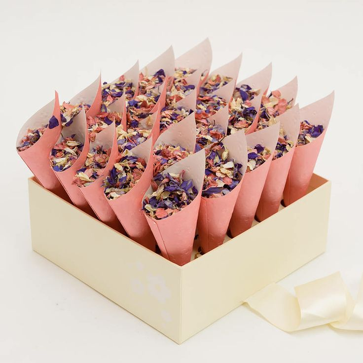 Confetti!...fill with lavender for vintage touch