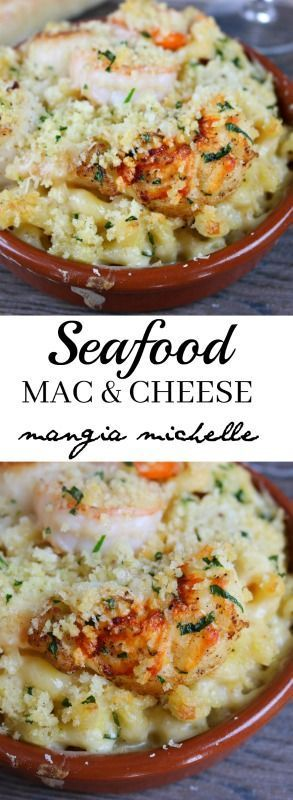 Seafood mac and cheese is the ultimate meal to make for your loved ones ~ http://www.mangiamichelle.com