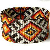 Украшения ручной работы. Ярмарка Мастеров - ручная работа Яркий бисерный браслет в этническом стиле. Handmade.