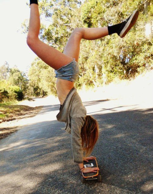 Improve my balance and cross this one off...Skater-Girl-Style