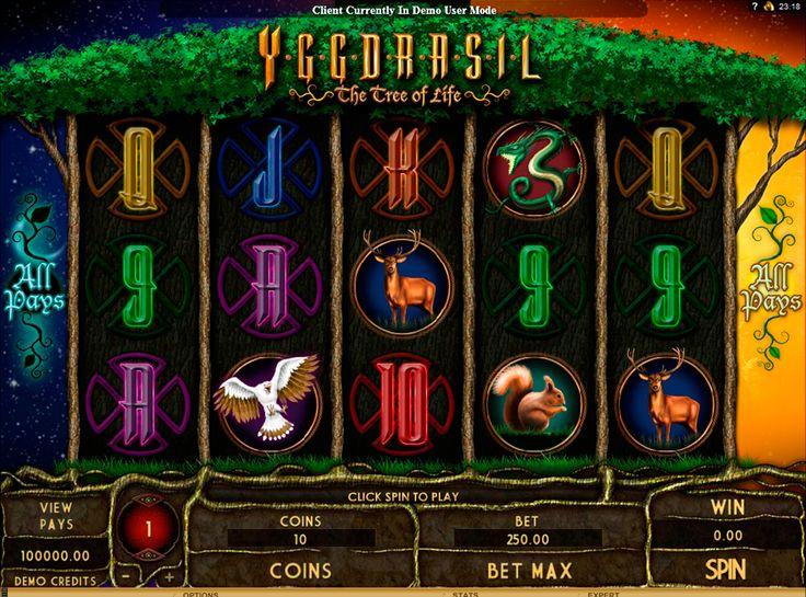 Yggdrasil The Tree of Life on erittäin hyvää kolikkopeli netissä! Pelissa on hyvät bonukset kaikkille, ja on varmasti mahdolisuus voitta sot rahasummat kun aloittat pelata tämän kolikkopeli oikealla rahalla!