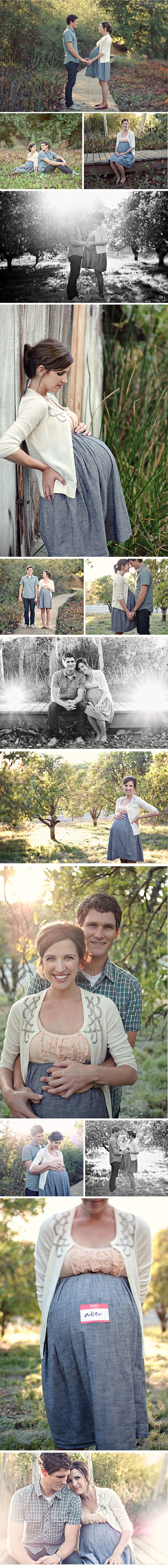 Sweet Spring Maternity Shoot – La Petite Peach- have I pinned this already?  Pinning even if I already have... Love this series